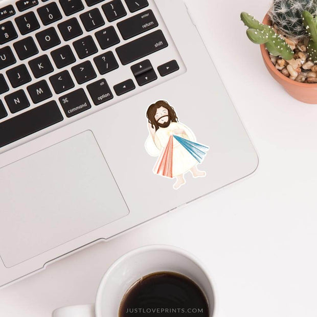 Divine Mercy Jesus Vinyl Sticker