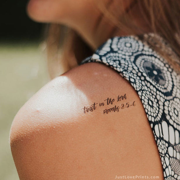 """Faith Over Fear Collection"" Temporary Tattoos"