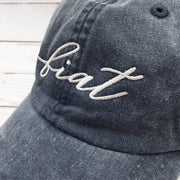 """Fiat Script"" Embroidered Baseball Cap"