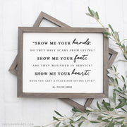 """Show me your hands..."" 