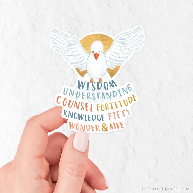 Gifts of the Holy Spirit Vinyl Sticker