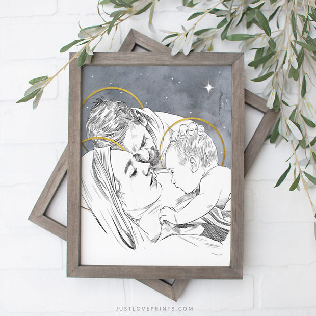 Love at First Sight | Holy Family Portrait