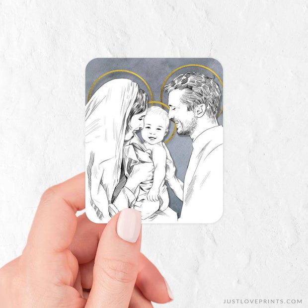 Holy Family Portrait Vinyl Sticker