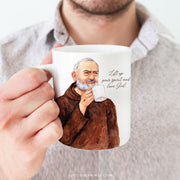 "St. Padre Pio ""Sipping with the Saints"" Mug"