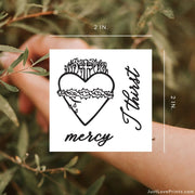 """Sacred Heart Collection"" Temporary Tattoos"