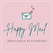 Happy Mail Printable Stationery