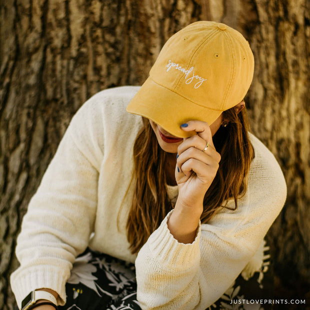 """Spread Joy"" Embroidered Baseball Cap"