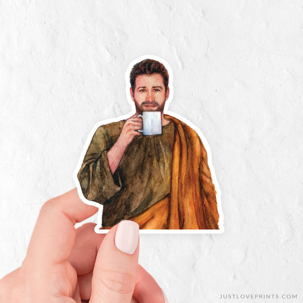 "St. Joseph ""Sipping with the Saints"" Vinyl Sticker"