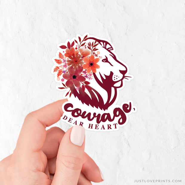Courage, Dear Heart Vinyl Sticker