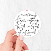 Go Forward Bravely Vinyl Sticker