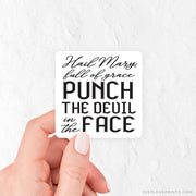 Punch the Devil in the Face Vinyl Sticker