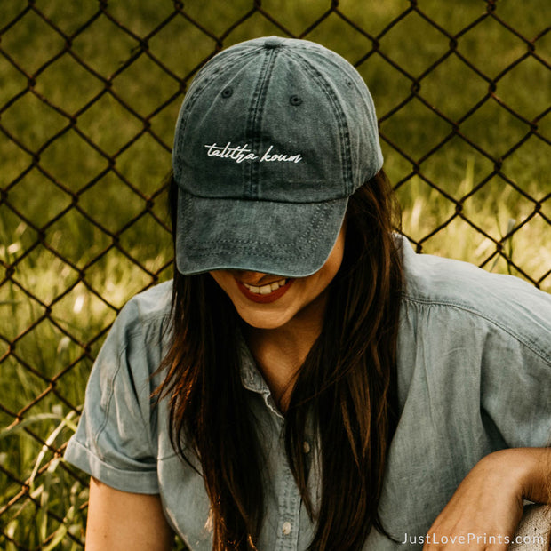 """Talitha Koum"" Embroidered Baseball Cap"