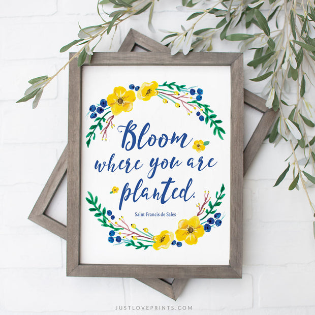 Bloom Where You Are Planted | St. Francis de Sales | Wreath