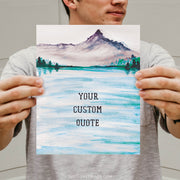 Custom | Mountain Watercolor