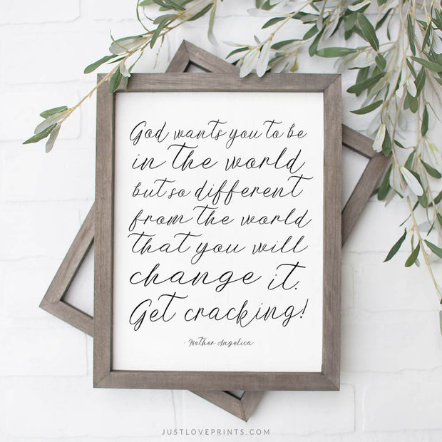 Change the World...Get Cracking! |  Mother Angelica