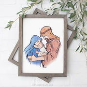 The Holy Family Watercolor