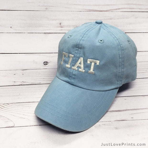 """Fiat Collegiate Font"" Embroidered Baseball Cap"