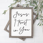 Jesus I Trust in You | Simple Calligraphy