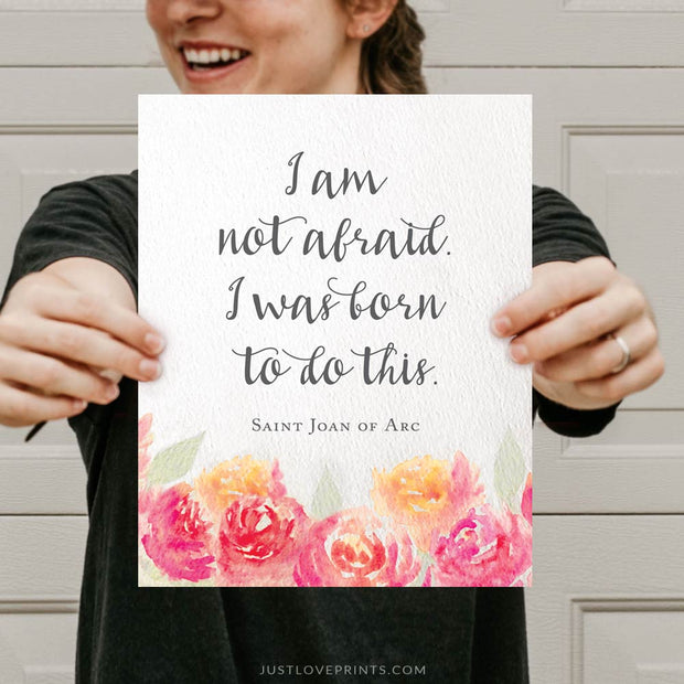 I Was Born To Do This | St. Joan of Arc | Watercolor