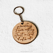 Go Forward Bravely Engraved Keychain