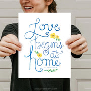 Love Begins at Home | St. Teresa of Calcutta | Floral