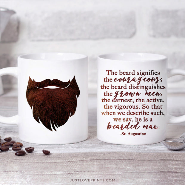 Bearded Man Quote | St. Augustine Mug