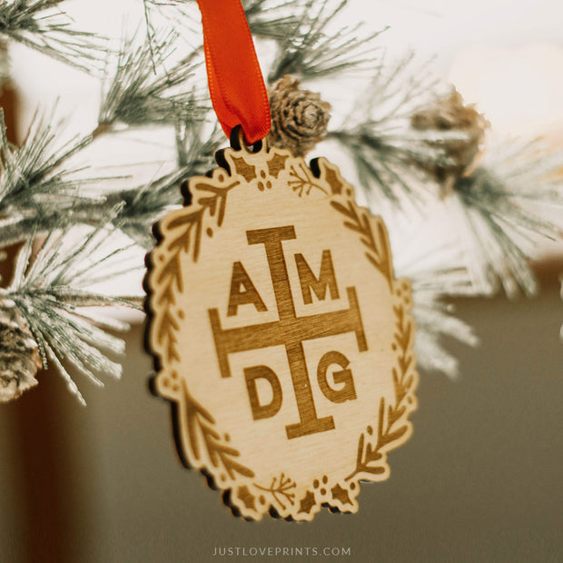 LAST CHANCE SALE | AMDG Ornament