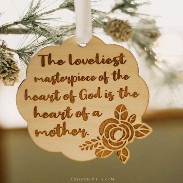 Heart of a Mother Ornament