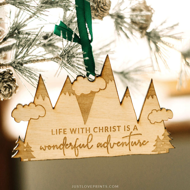 Life with Christ is a Wonderful Adventure Ornament