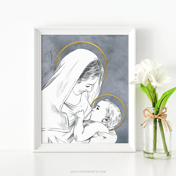 Mary Nursing Baby Jesus
