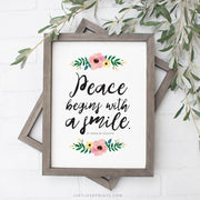 Peace Begins with a Smile | St. Teresa of Calcutta