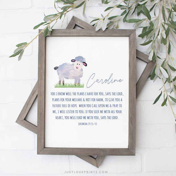 Personalized | Jeremiah 29:11 Lamb