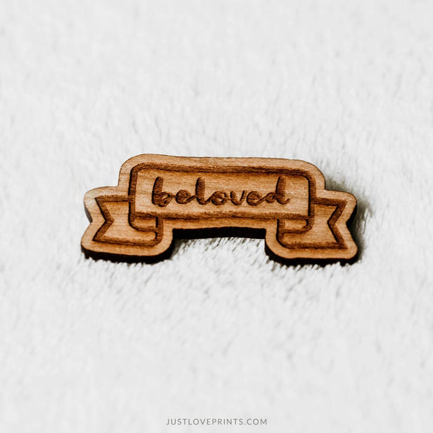 Beloved Engraved Pin