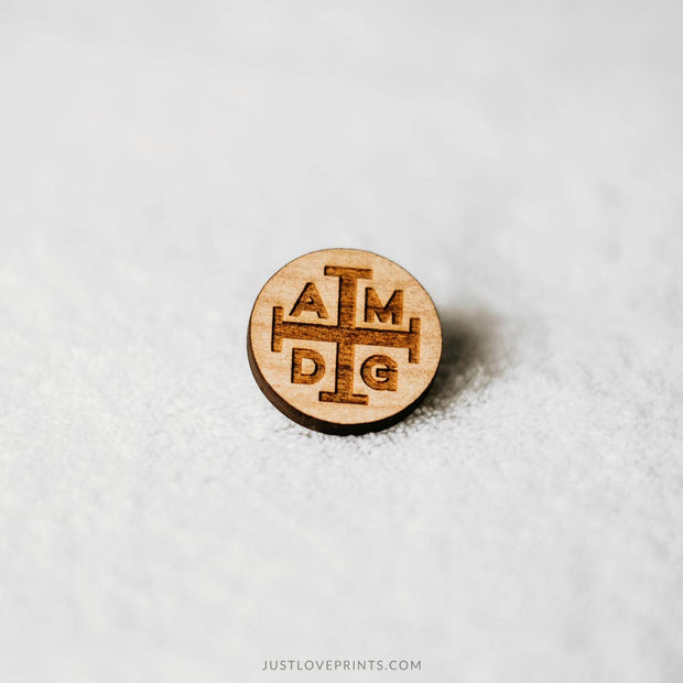 AMDG Engraved Pin
