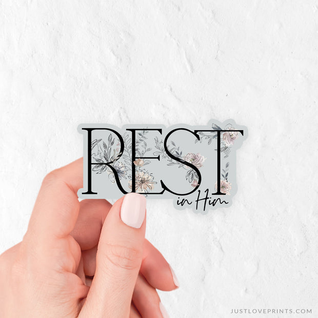 Rest In Him Vinyl Sticker