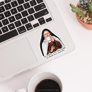 "St. Thérèse ""Sipping with the Saints"" Vinyl Sticker"