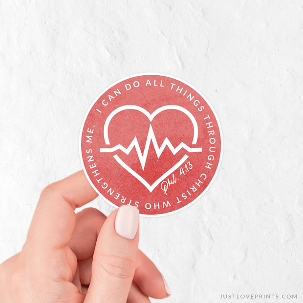 For Medical Workers - I Can Do All Things Sticker
