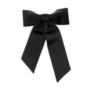 Black hair clip with a big bow