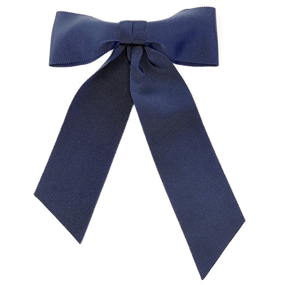 Hair clip with a big bow in navy color
