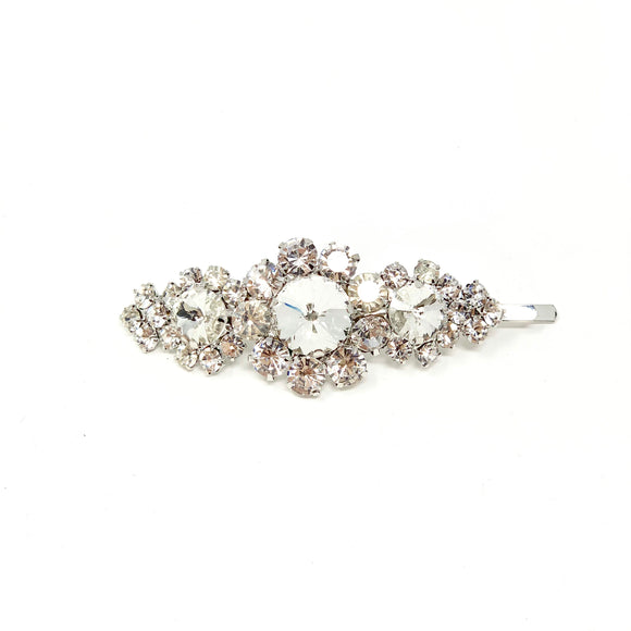 The Royal Crystal Hair Pin Silver
