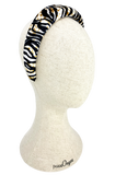 Padded velvet headband in tiger pattern