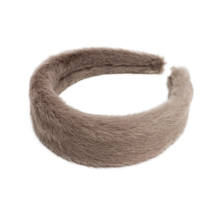 3 Furry headband in 3 colors, white, dark blue and dark red