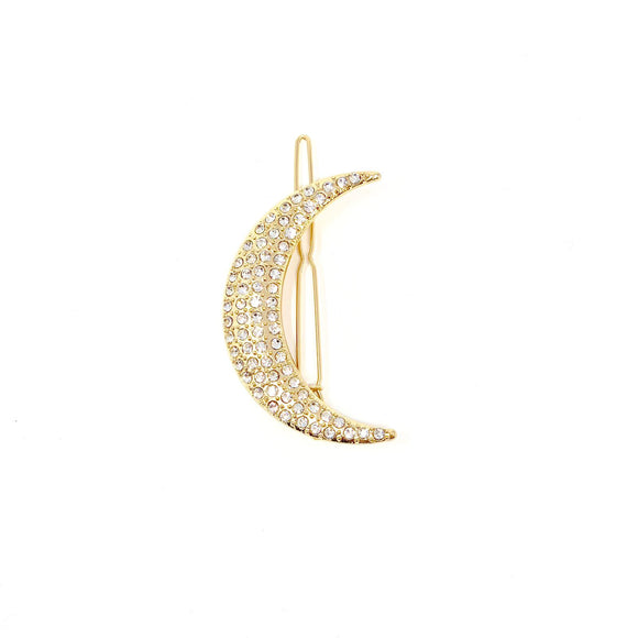 The Moon Hair Clip Gold