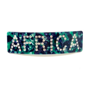 Embellished hairpin with the word AFRICA