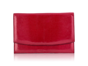 Envelope Clutch - Cherry