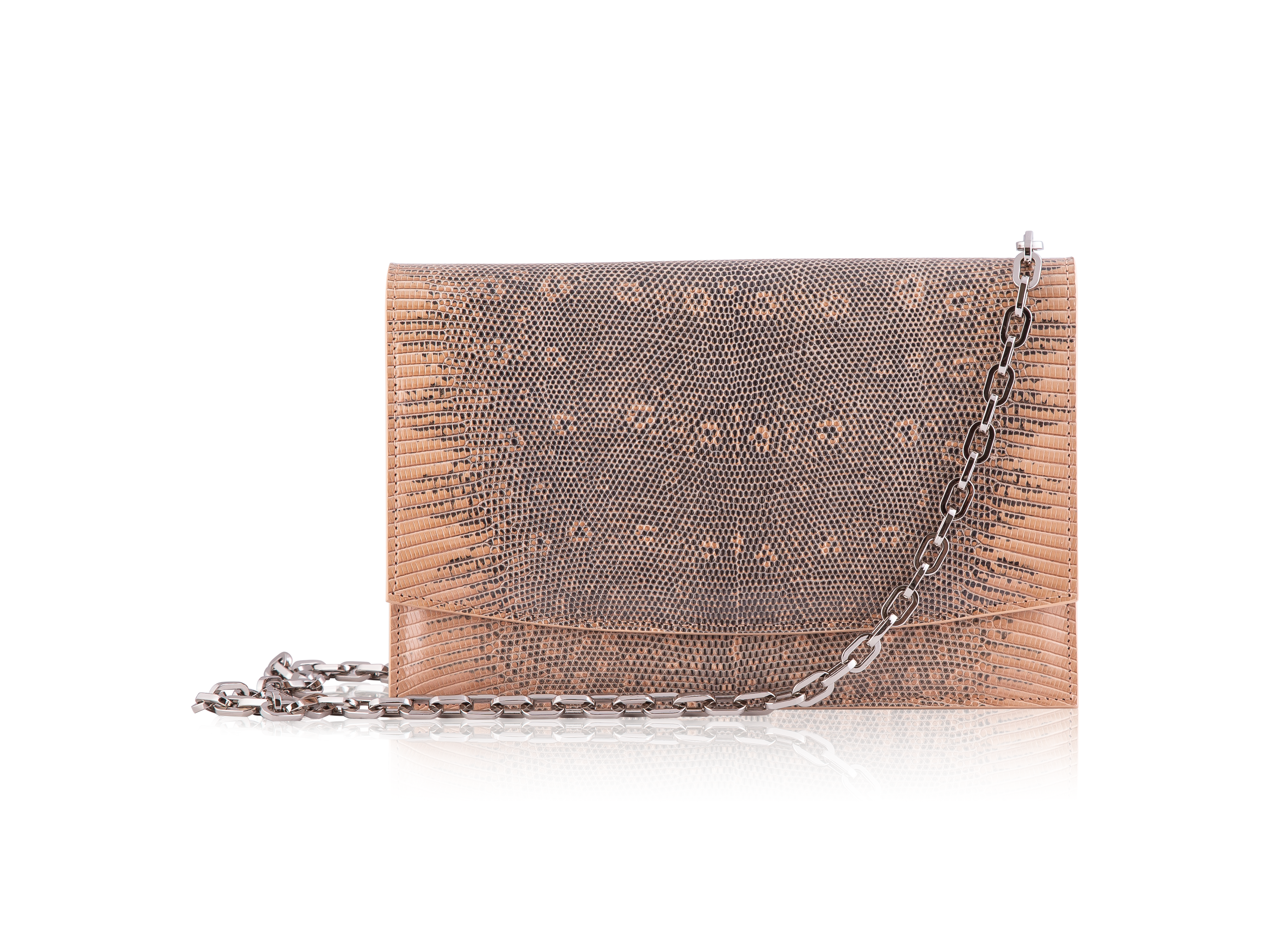 Envelope Clutch - Tan Ring