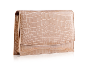 Envelope Clutch - Beige Alligator