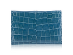 Envelope Clutch - Turquoise Alligator