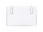 Large Convertible Crossbody - White Pebbled Leather