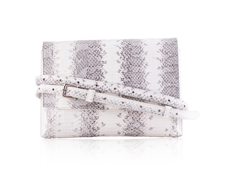 Large Convertible Crossbody - White & Grey